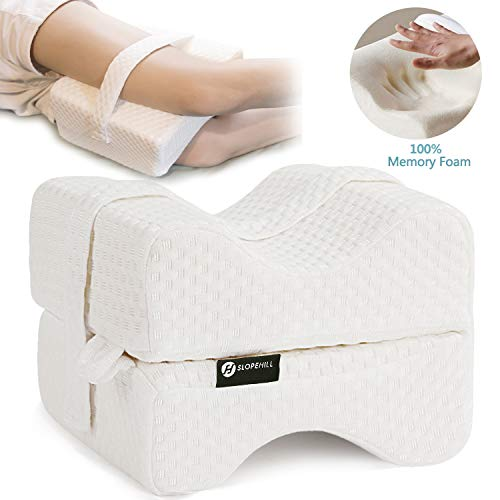 [USAmall] Slopehill Knee Pillow Memory Foam - Orthopedic Leg Positioner Pillow