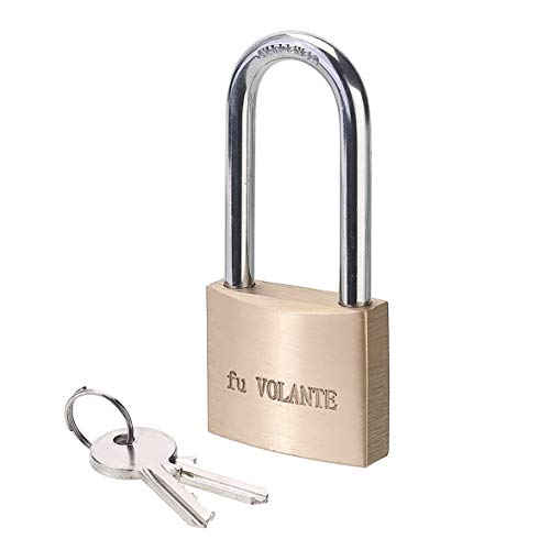 [USAmall] Solid Brass Keyed Alike Padlock, 2 inch (50mm) Wide Body, with Harde