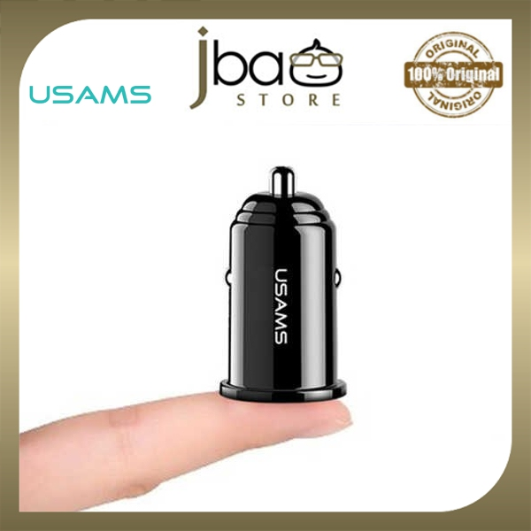 USAMS C8 Dual 2 USB Mini Mobile Car Charger Fast Charging 3.1A Mini Small Grab