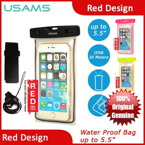 sports shoes 75643 db588 USAMS IPX8 Waterproof Bag for Smartphone Note 7 S7 Edge iPhone 6 Plus