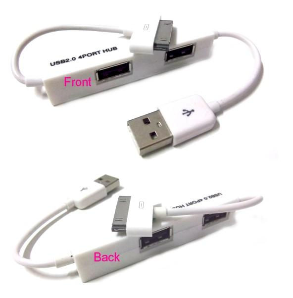 *USB 2.0 4 Port ^HUB + iPhone 3GS/4 Charger