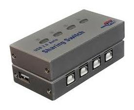 USB 2.0 Auto Sharing Switch Print 4 Port