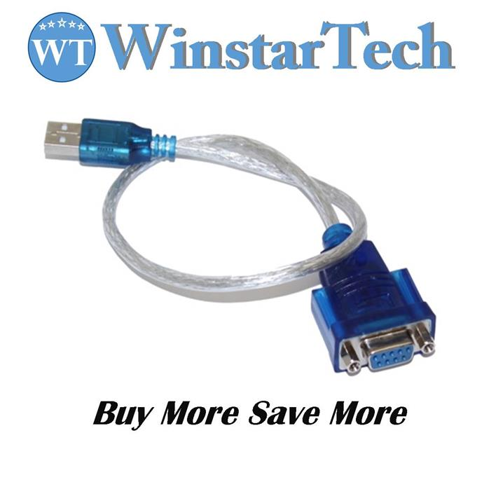 USB 2.0 To RS232 CH340 Female Serial Converter Adapter Cable 80cm