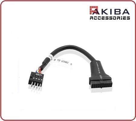 USB 3.0 20p Motherboard Header Female to USB 2.0 9p Male Cable
