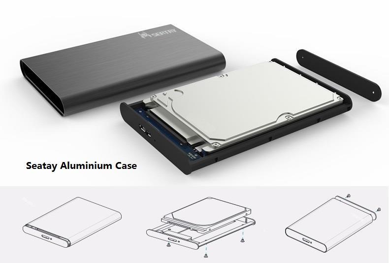 7a25fc0545a9 USB 3.0 External HDD Case 2.5' 3.5' Sata Harddisk Hard Disk Enclosure