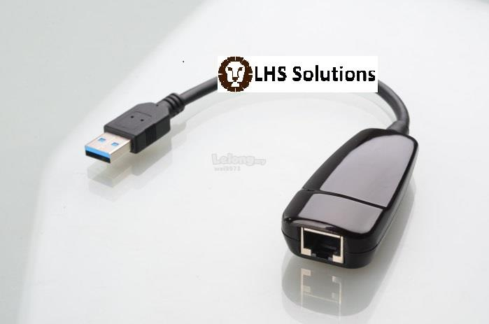 USB 3.0 GIGABIT ETHERNET ADAPTER COMPATIBLE WITH WIN XP /7/8/10 & etc