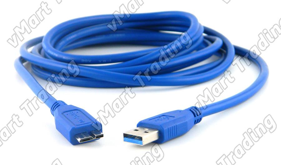 USB 3.0 A Male to Micro B Male Cable 0.3M/0.5M/3.0M/5.0M