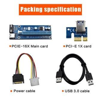 USB 3.0 PCI-E Express 1x To 16x Extender Riser Card Adapter Cable