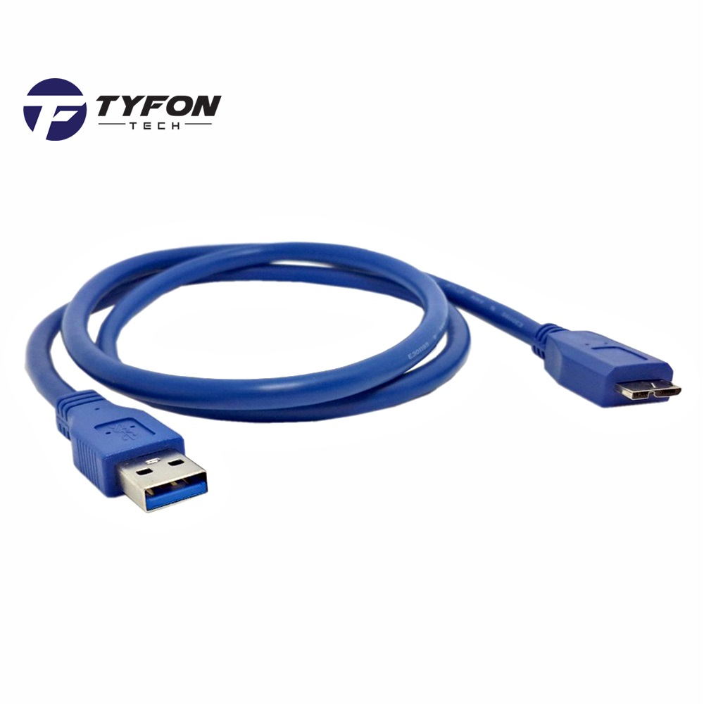 USB 3.0 A to Micro B Cable for External Hard Drive 50cm (Blue)
