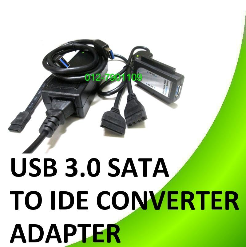 "*USB 3.0 TO SATA IDE 2.5"" 3.5"" Hard Drive Disk Converter Adapter"