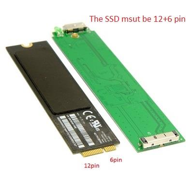 USB 3.0 to SSD for 2010 2011 Macbook AIR A1369 A1370 Enclosure