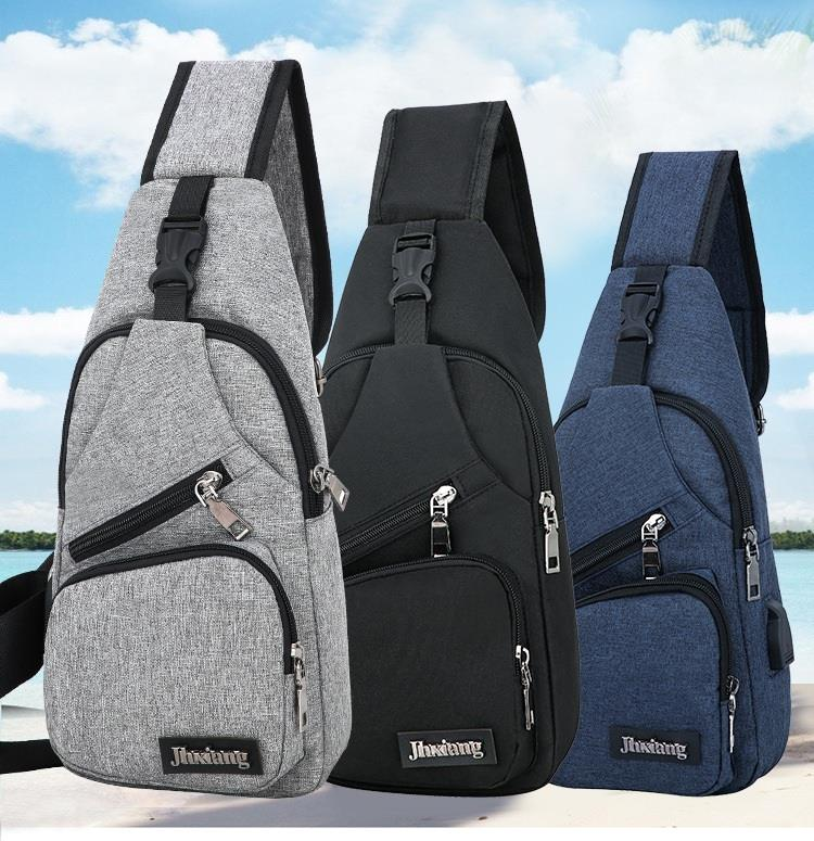USB Charge Sling Bag Cross body Bag Back Pack Messenger
