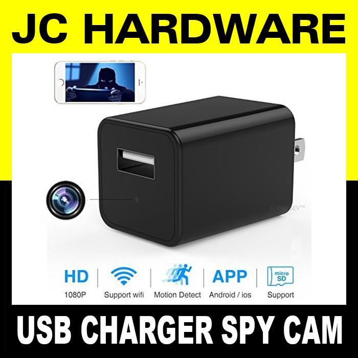 USB Charger Wifi Spy Cam Mini Wireless Hidden Camera 1080P Phone APP