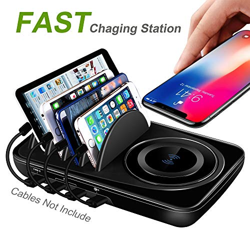 Usb Charging Station Dock Quick Charge 3 0 Type C For Multiple Devices Ipad De