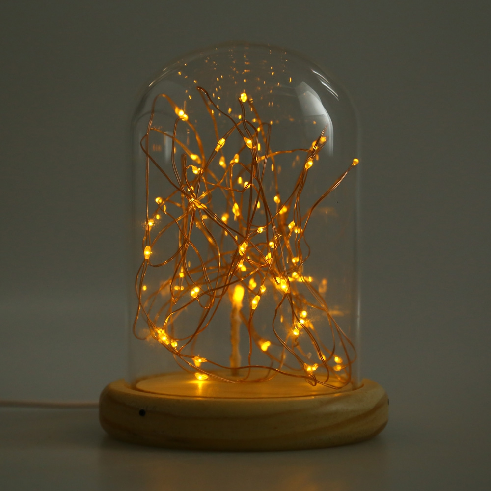 (USB LED FIREWORK GLASS COVER TABLE LIGHT) USB LED Firework Glass Cove..