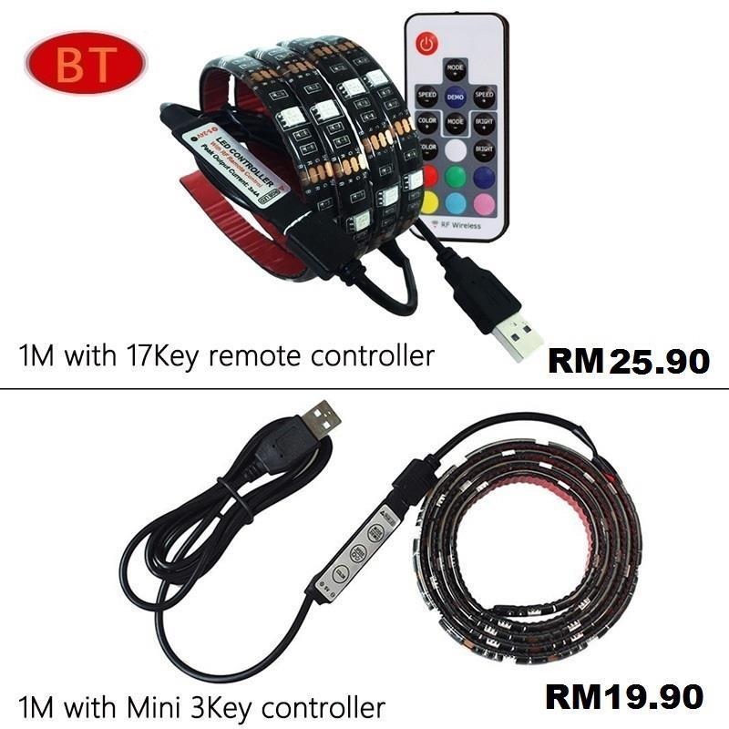 USB LED Strip Light RGB 5050 1M/ 2M IP65 TV Background Lighting. ‹ ›
