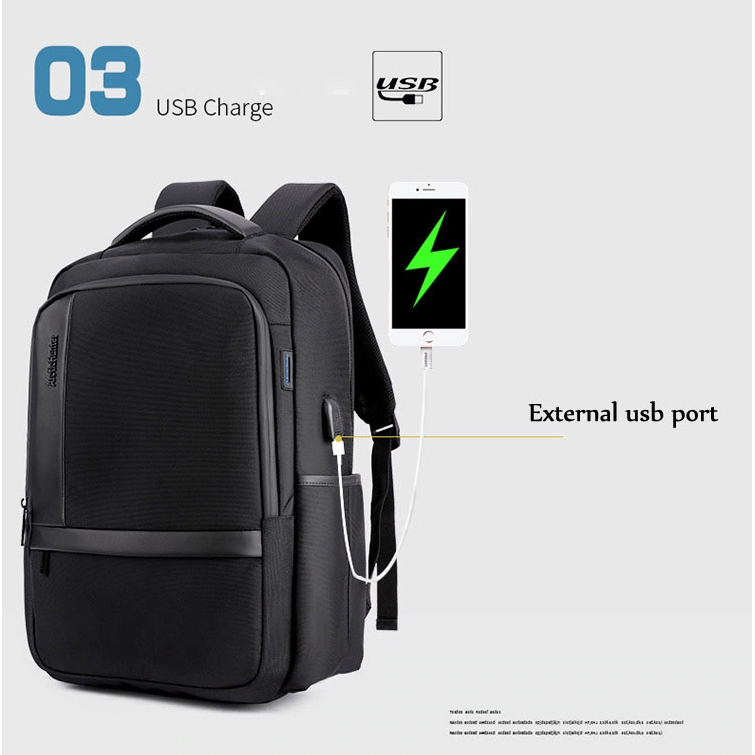 USB Men Laptop Protection Extra Thick Durable Korean Style Travel Laptop Schoo