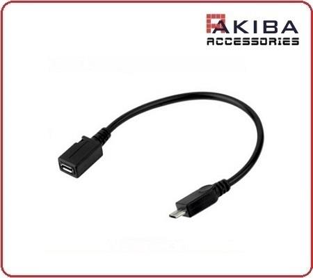 USB Micro-b Female to Male Micro USB Cable