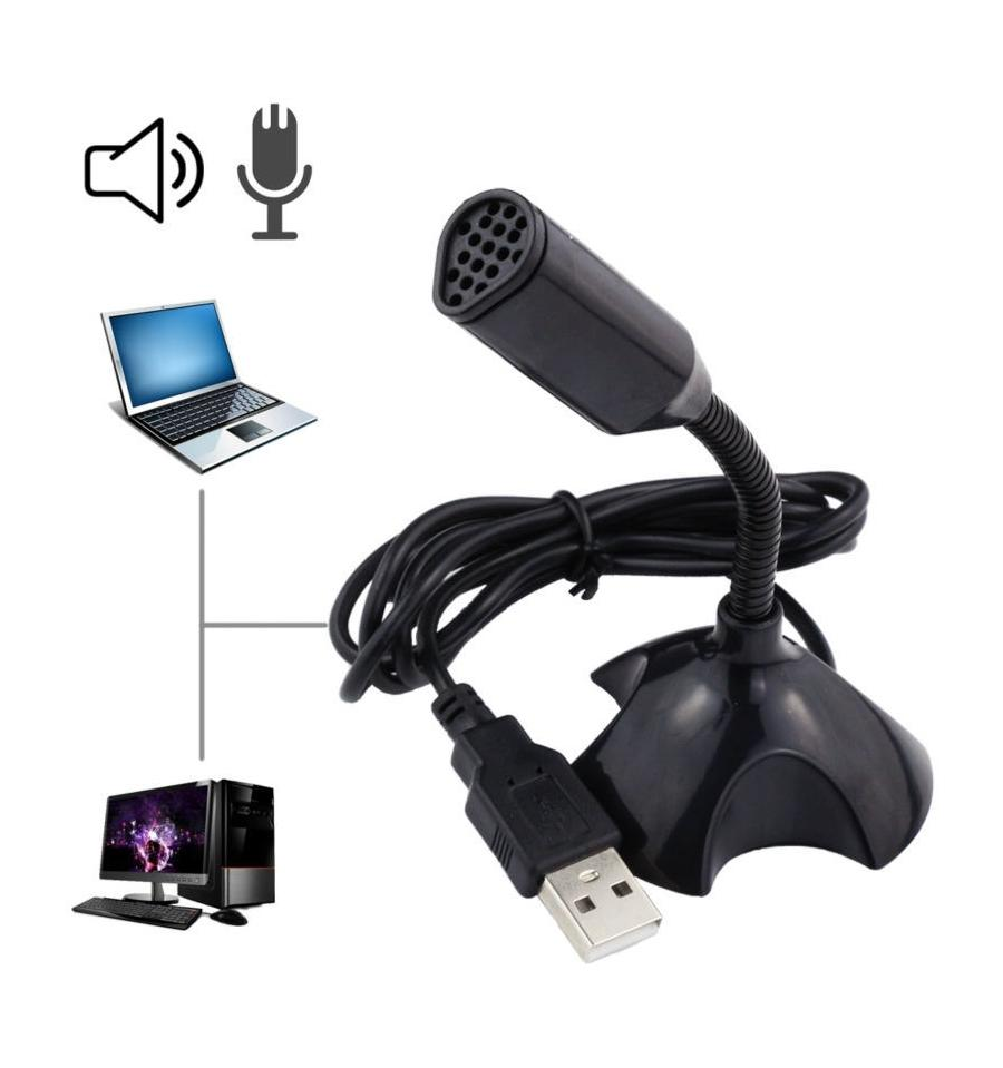 *USB Mini MIC Microphone^ Laptop Desktop Studio With Stand