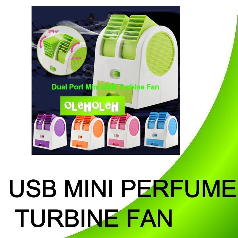 Usb Portable Mini Perfume Turbine Desk Fan Air Conditioner Cooling