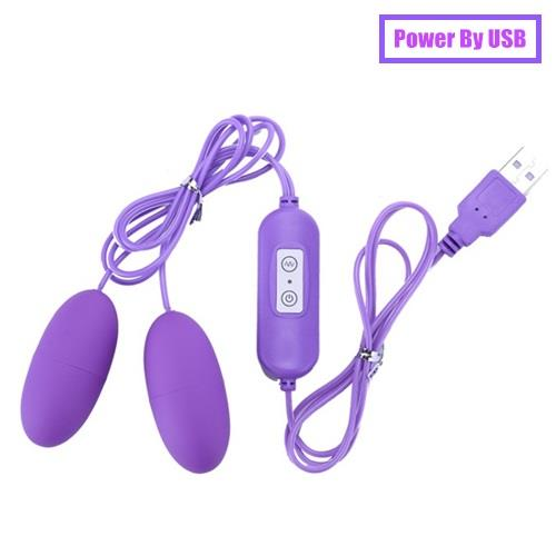 USB Powered 10 Speed Double Bullet Vibrating Egg
