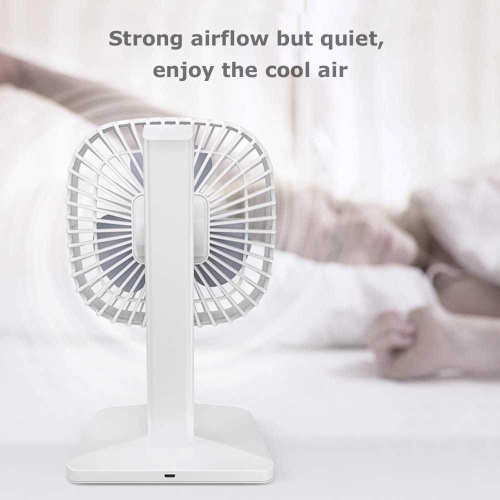 USB Rechargeable Fan 2000mAh 3 Speeds Portable Fan Strong Airflow