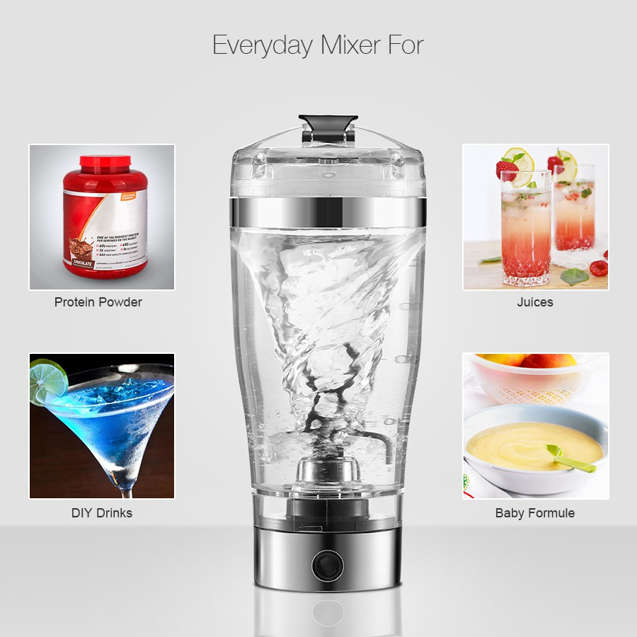 USB Rechargeable Portable Creative Auto Electric GYM Protein Blender Shaker Bo