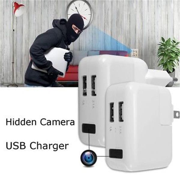 USB Wall Charger Hidden Spy Camera 1080P HD Mini DVR Recorder Motion D
