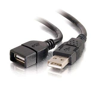 USB2.0 Cable AM to AF (Black)