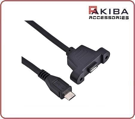 USB2.0 Micro Male to Female Micro-b Screw Hole Cable