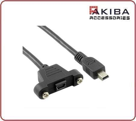 USB2.0 Mini Male to Female Mini-b USB Screw Hole Cable