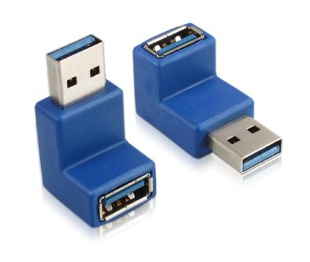 USB3.0 Converter Type A Male / A Female L-Shape