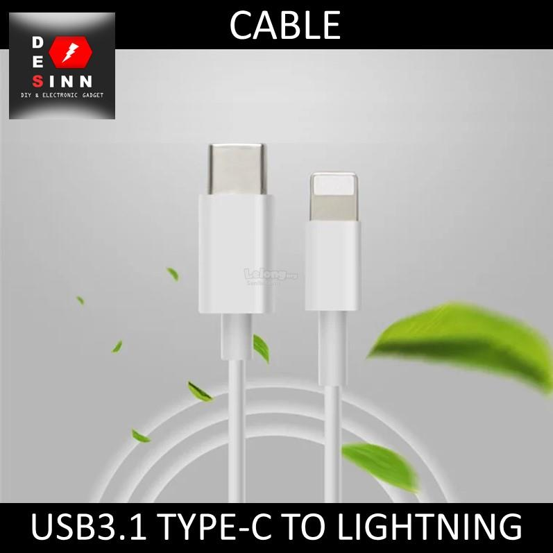 USB3.1 TYPE-C TO APPLE LIGHTNING DATA CHARGING CABLE 1M