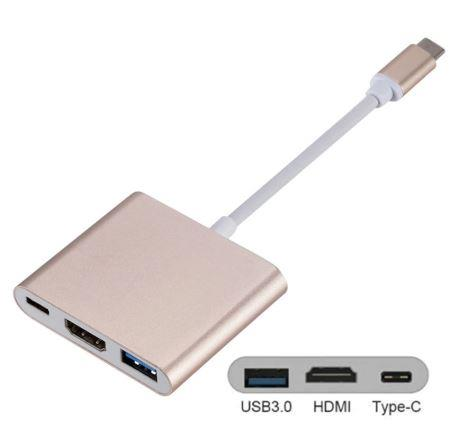 USB3.1 Type C To HDMI+USB3.0 3-in-1 Support 4K Converter