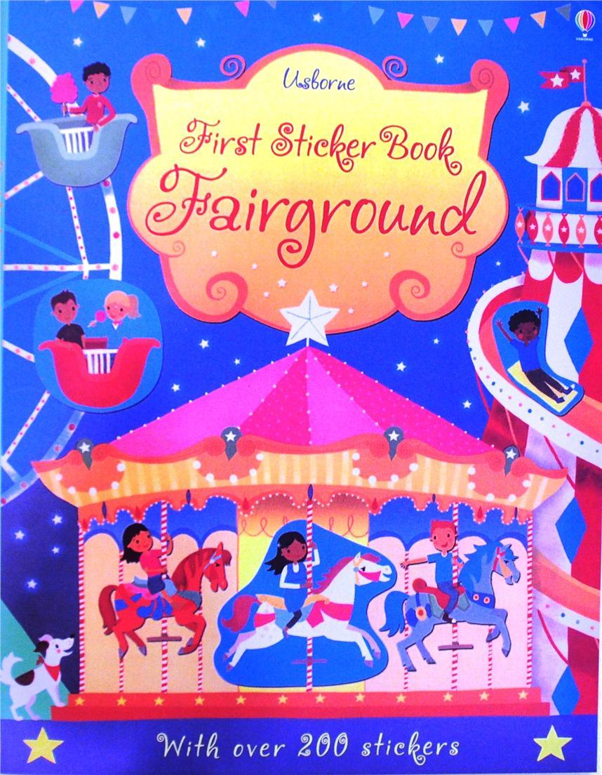 Usborne First Sticker Book Fairgrou End 12 1 2016 434 Pm Activity Books My Pretty Pink Fairground Children Gift