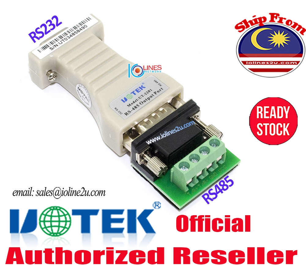 Utek UT-2201 RS232 to RS485 bidirectional Passive Serial converter for CCTV Ca