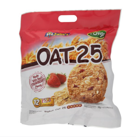 UU Julie's Oat 25 + Oligo Biscuit 12 Convi-Packs 300g