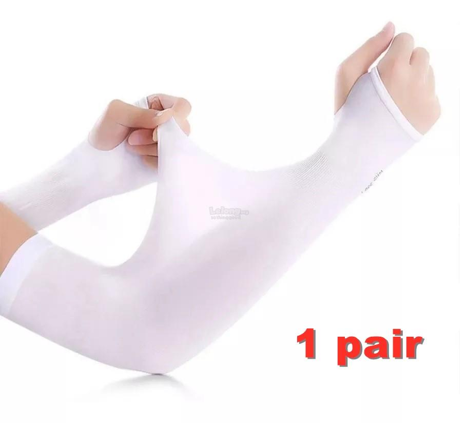 UV PROTECTION Cooling Warmer Arm Sleeves with Thumb Hole Unisex 1 Pair