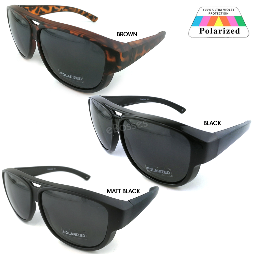 UV PROTECTION FITOVER OVERLAP POLARIZED SUNGLASSES MEN WOMEN. ‹ › b3cac03e12