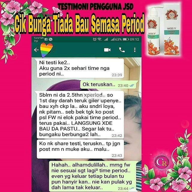 Miss V Feminine Wash Jamu Susuk Dara (Harga Offer)!!!