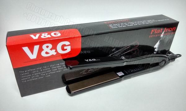 V&G V8210 Professional Coated Straightening & Curling Iron (2 in 1)