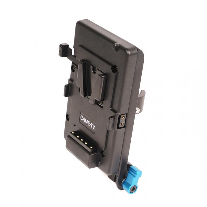 V-Mount Battery Plate With Clamp for Video Support