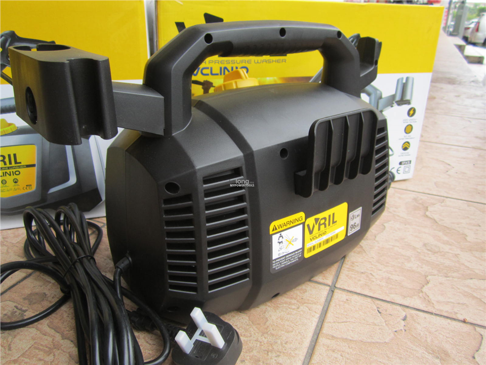 V'ril 1300W 105Bar Compact High Pressure Washer