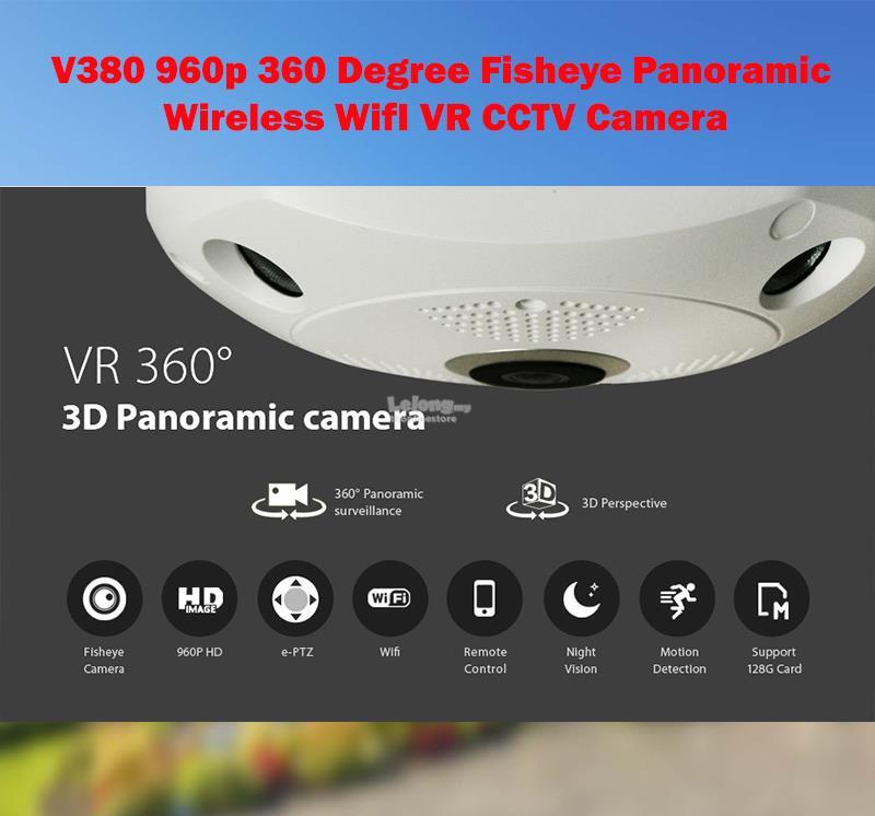 V380 960p VR 360 Degree Panoramic Fisheye Wireless IP CCTV Camera