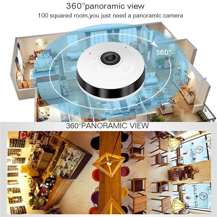 V380S Mini CCTV Panoramic Wireless WiFi IP Fisheye Camera 960P HD Home