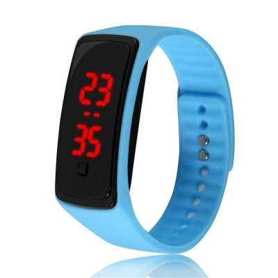 V5 Fashion LED Digital Watch Children Silicone Wristwatch (SKY-BLUE)
