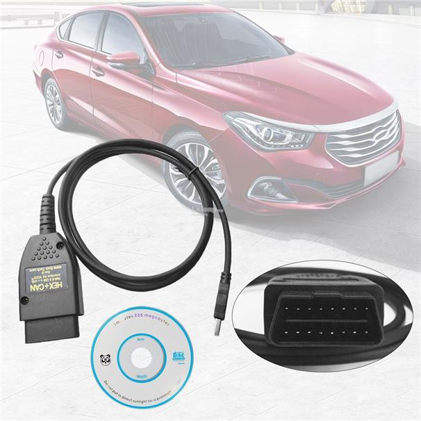 VAGCOM 17.1.3 HEX+CAN USB Interface Car Fault Diagnosis Wire (German/E..