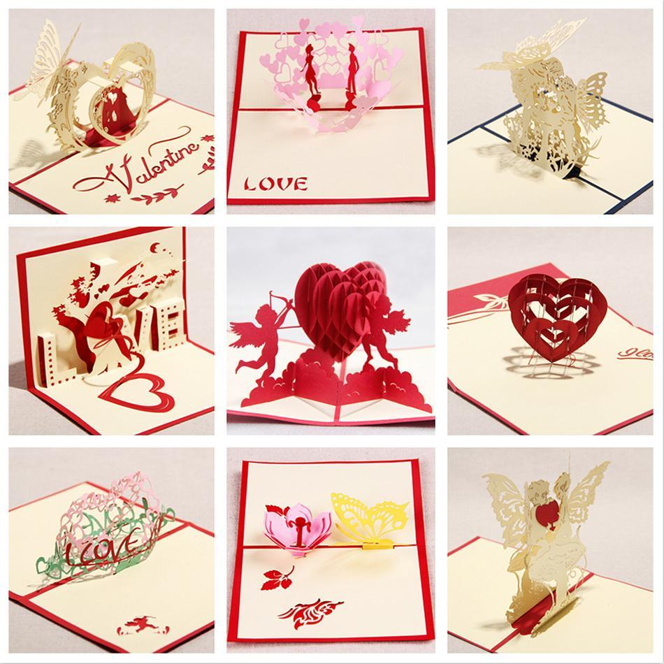 Valentine greeting cards handmade lo end 262019 1015 pm valentine greeting cards handmade love kirigami 3d pop up laser cut m4hsunfo