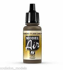 Vallejo Paint - Model Air 71038 Camouflage Medium Brown (17ml)