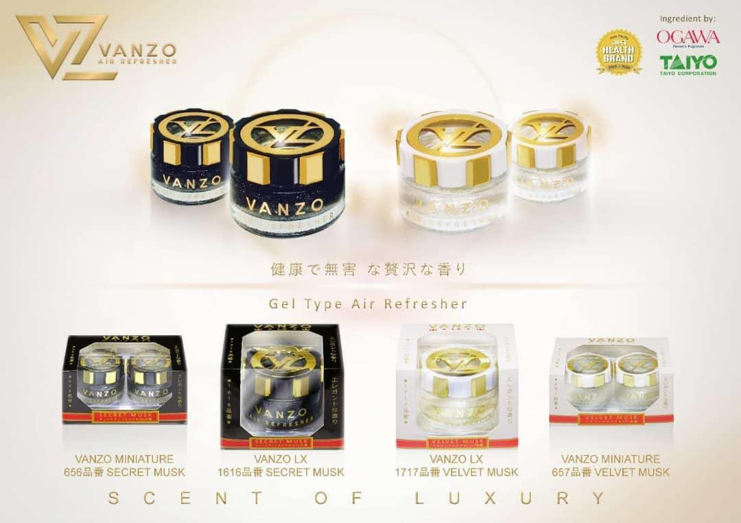 Vanzo Velvet 657 Musk Car Perfume Air Freshener 16ml (2 in 1)